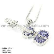 925 Silver Pendant with CZ stone - Guitar (PZF-0937)