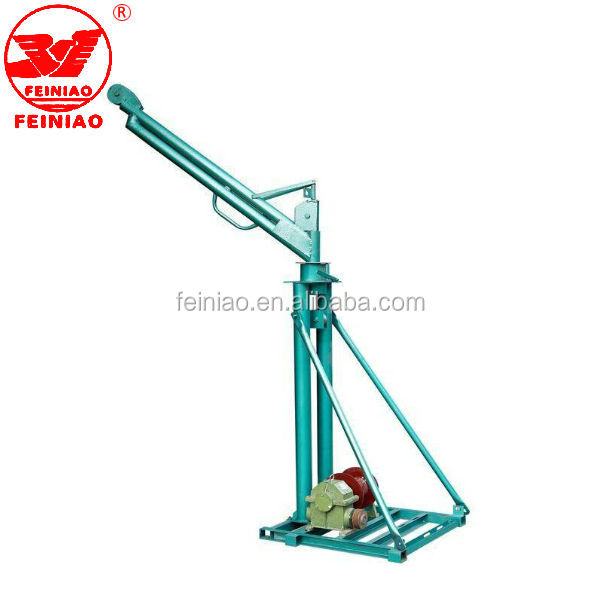 mini hoist crane machine/ double pipe mini crane swivel lifting crane