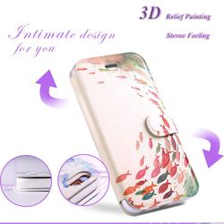 The Latest 3D Relief Painting Design High Quality Leather Flip Wallet Case for Apple iPhone 6 6s plus