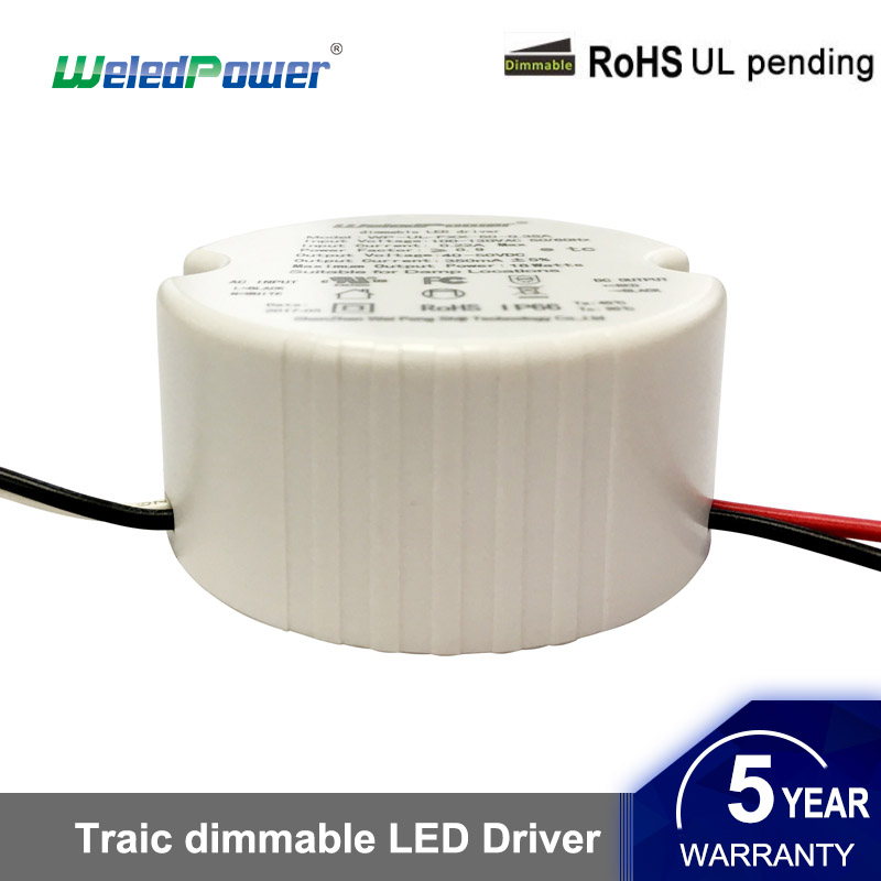 Small Size Triac Dimming Driver Round Driver Led Power Supply