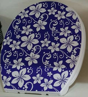 Flower toilet seat decorative design