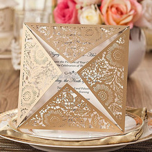Luxury Personalized Laser Cut Wedding Invitation Card