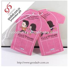 car paper perfume hello kitty shape perfume scent paper