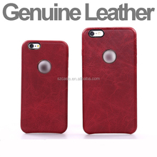 Luxury Business Design Genuine Leather Hard PC Phone Back Cover Case for Iphone 6 Plus 6plus case for iphone 6s