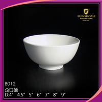 15cm white cheap simple style double dinner ceramic bowl
