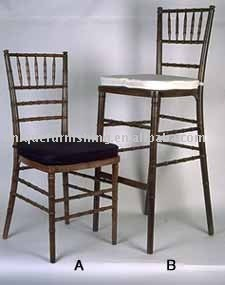 Antique Wood Chiavari Barstool Bar Chair For Sale
