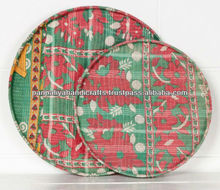 Patchwork vintage kantha floor cushion cover