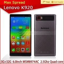 6 inch Lenovo vibe z2 Quad Core 2560*1440 3gb 32gb 16MP Camera lenovo k920 4g android phone