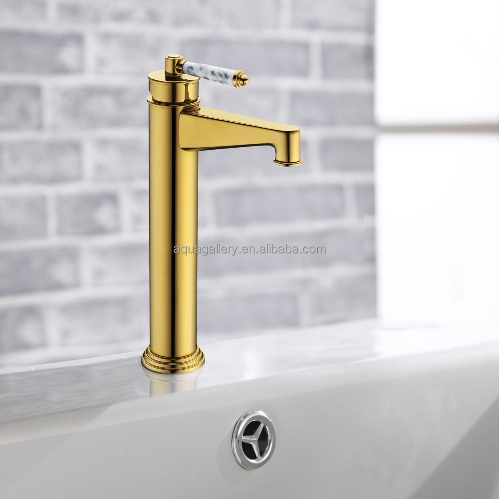 High Quality Wash Basin Gold Plated Faucet