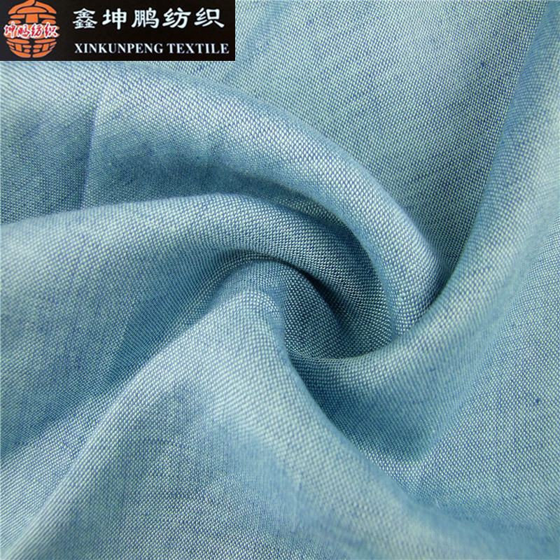 Wholesale promotions woven natural eco-friendly viscose linen fabric