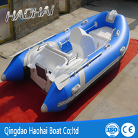 (CE)390cm rigid fiberglass inflatable pontoon boat