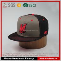 customized 3D embroidery logo snapback hat and fashion flat bill bright snapback caps