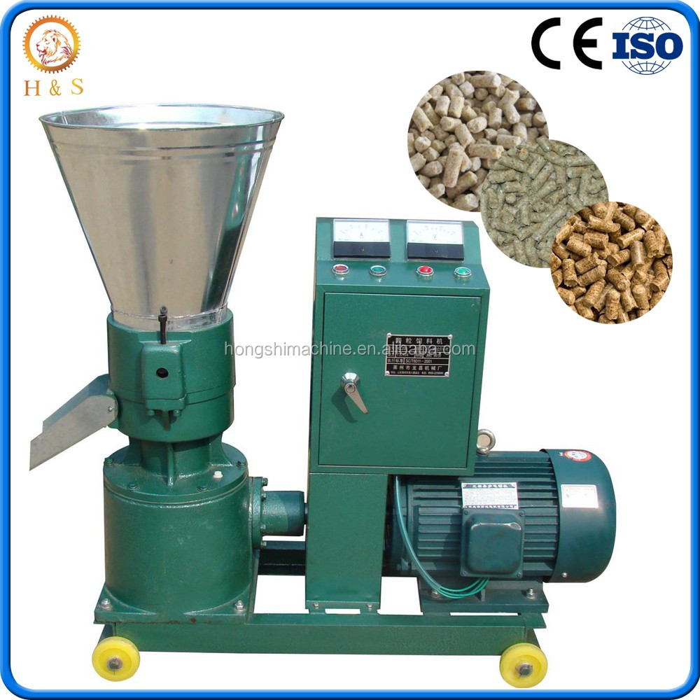 Home use flat die small animal poultry feed pellet making machine