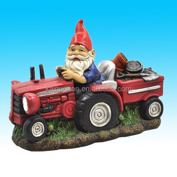 cute old man polyresin gnome garden decoration