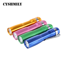 CYSHMILY mulit color dry battery promotional gift cheap metal torchlight military tactical mini torch