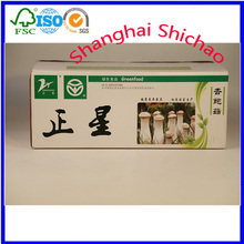 Plastic/cardboard boxes to fruits and vegetables.,mushroom packing box