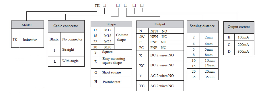 tk inductive proximity sensor electric switch sensor