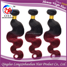 Online products wholesale price best selling 3 bundles red brazilian hair weave