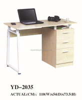 white wood office desk with drawer