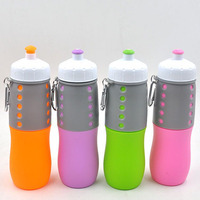 650ml collapsible silicone premium water bottle BPA free