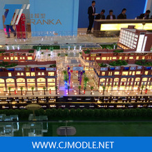 Modern shoppping center & commercial building model with high level building scale model making LED lighting