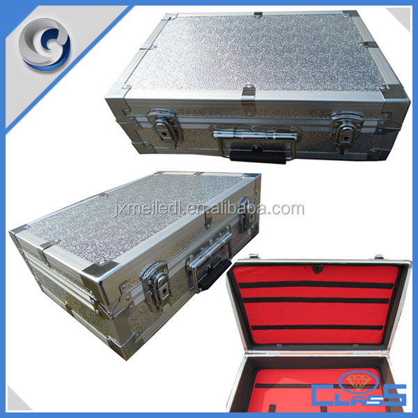 MLDGJ710 New Excellent Quality Silver Aluminum Laptop Case For Carrying With Tool Board