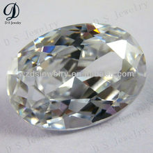 AAA quality oval shape synthetic cz gems