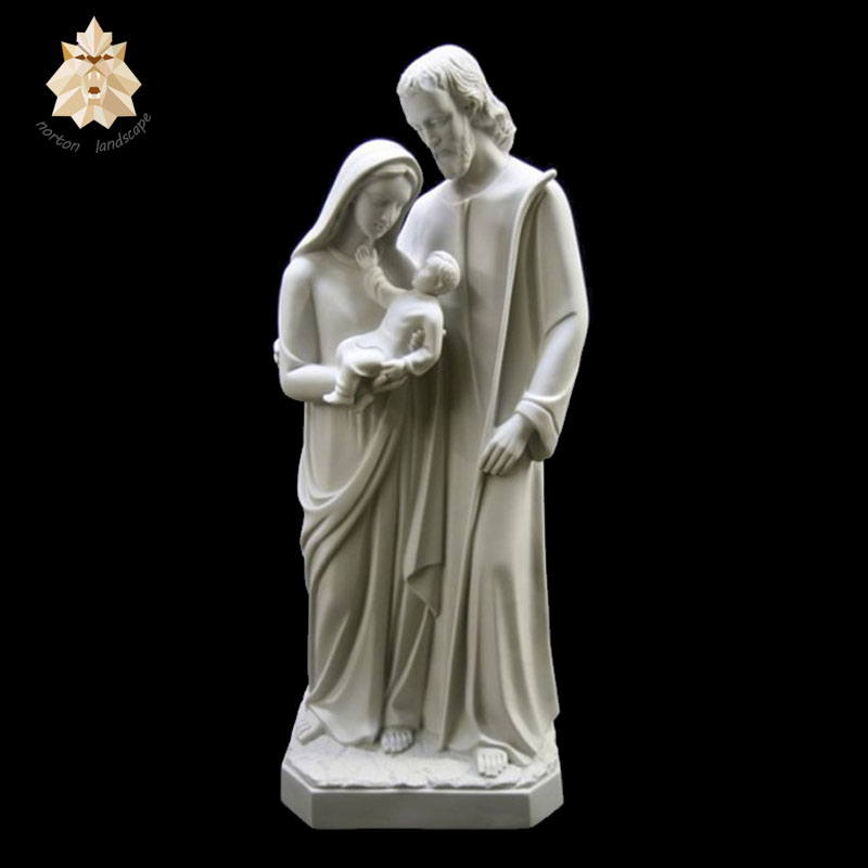 2018 new design famous holy family marble religious catholic sculptures NTBS-285Y