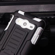 2015 Best Selling mobile phone shell Armor Impact Holster Belt Case For Samsung galaxy core2 G355h,For Galaxy G355h Case Cover