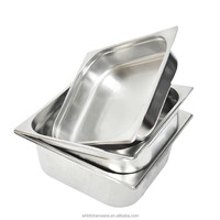 "2/3*200mmx8"" size NSF certification stainless steel US Steam table Anti Jam Gn food Pan ice cream container restaurant equiment"