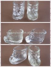 glassware / the shoe type of glass candle holder / glass candle