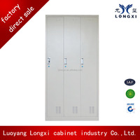 Luoyang furniture modern cheap steel wardrobe design, metal clothes closet