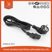 male and female plug 3 core 0.75mm2 10a 250v EU c13 c14 connector ac power cord