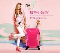 2015 Colorful Polycaronate PC Hard Shell Trolley Spinner Luggage