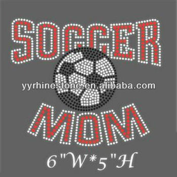 soccer mom cheap rhinestone sports transfers