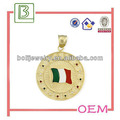 china supplier metal italy enamel flag badge