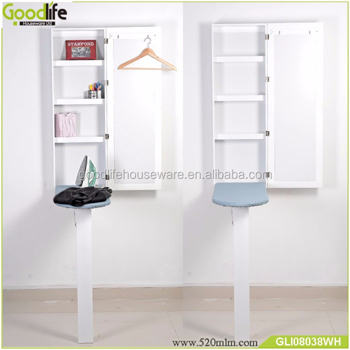 Wood designs ironing board with clothes rack