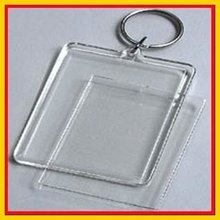 2012 New Photo Frame Blank Acrylic Keychain