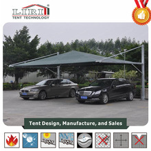 Aluminum Two Car Parking Tent / Outdoor Metal Car Shelter Canopy / Carport Tent for Sale