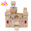 Wholesale DIY wooden castle toy for children,hot sale wooden castle toy for baby W06A035