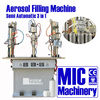 Excellent quality manual aerosol can filling machine made by MIC Machinery 3 in 1