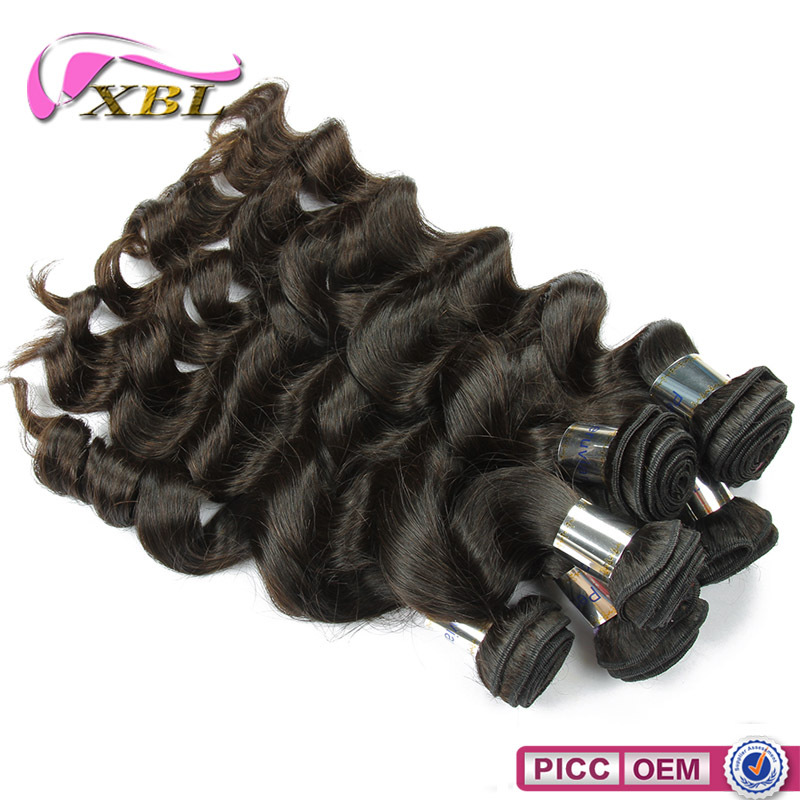 XBL hair 7A high quality loose wave hair cheap virgin remy hair bundles