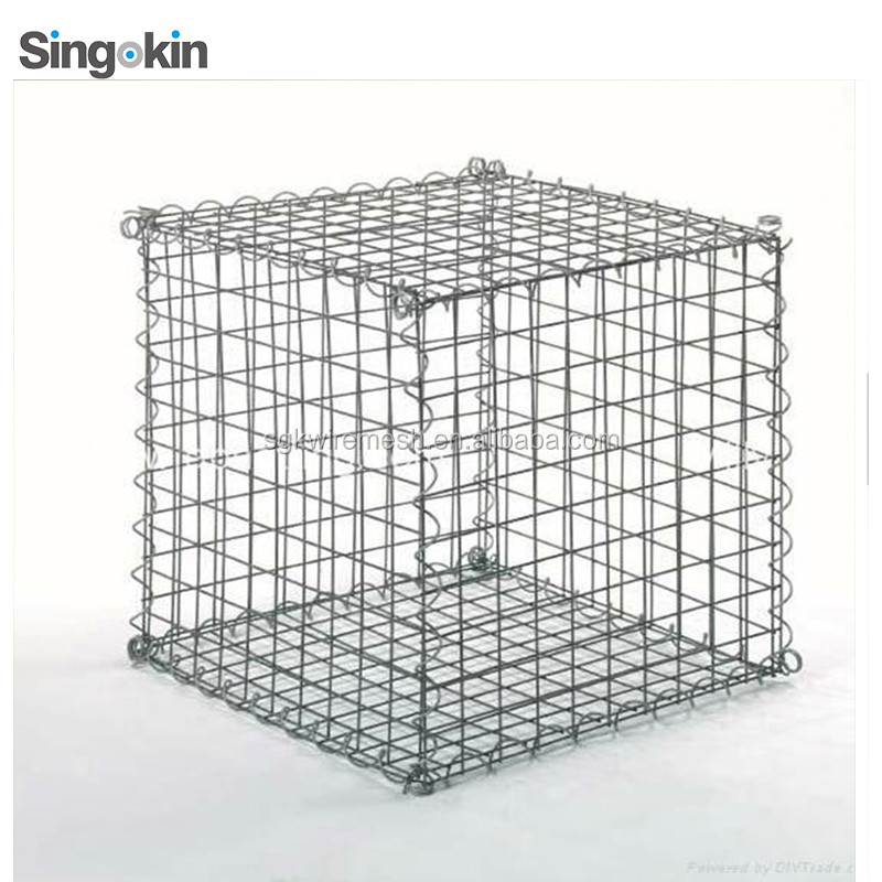 welded wire mesh gabion box with <strong>75</strong> x 75mm mesh and 4.5mm spiral wire