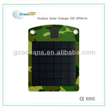 hot soale high quality solar mobile charger with CE&RoHS certificate 4W thin film solar panel OS-OP041B Guangzhou factory