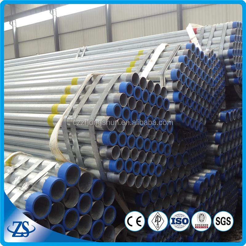 1.5 inch galvanized steel tube for oil and gas pipeline