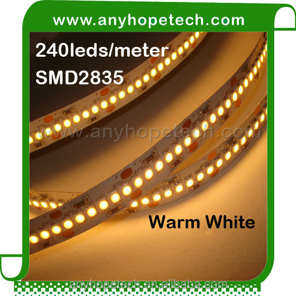 4620lm CE RoHS EMC LVD FCC ETL UL for kitchen cabinets led ribbon tape SMD2835 240leds