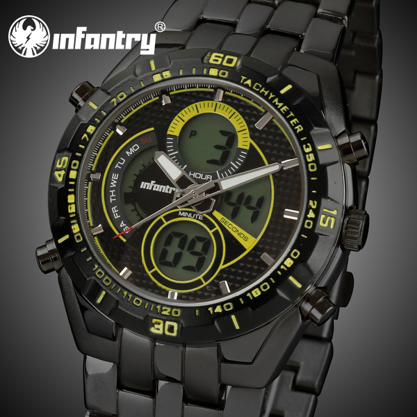 INFANTRY Men's Military Chronograph Date Quartz Geneva Watch