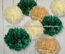 "Tissue Paper Flower Pom Pom 8"" inch Red Pink blue Green Purple Orange for wedding,baby shower, Birthday 32 Colors in 14 sizes"