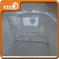 XHFJ waterproof plastic clear vinyl pvc zipper bags