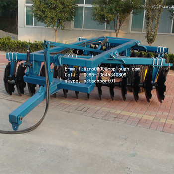 28 pcs heavy duty trailed disc harrow for tractor hydraulic